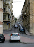 Street. With cars on Malta Stock Image