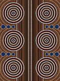 Street. A illustration based on aboriginal style of dot painting depicting street Royalty Free Stock Photo