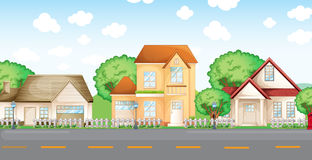 Street. Illustration of typical urban street vector illustration