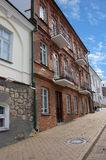 Street. In old part of town. Minsk, Belarus stock image