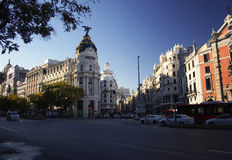 Street. Intersection in madrid Stock Image