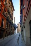 Street. In old city in madrid Royalty Free Stock Image