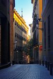 Street. Old-style street in madrid Royalty Free Stock Images