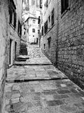 Street. Part of the old town of Kotor Royalty Free Stock Images