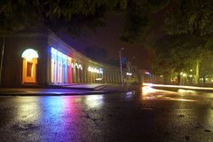 Street. Night square in the city of Taganrog Royalty Free Stock Photography