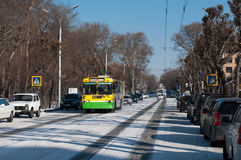 Street of Abakan Royalty Free Stock Images