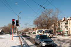 Street of Abakan Royalty Free Stock Photo
