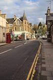 Street in Aberfeldy , Scotland. Royalty Free Stock Photo