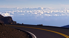 Street above the clouds Royalty Free Stock Images