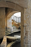 Street Access. Stone Arches leading to Street Access from the Riverwalk in San Antonio, Texas Royalty Free Stock Images