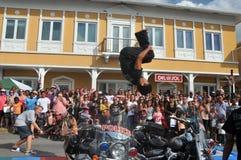 Street acrobat Stock Images