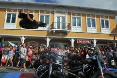 Street acrobat Stock Photography