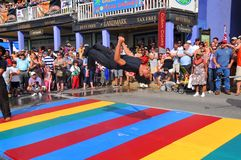 Street acrobat Royalty Free Stock Image