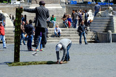 Street acrobat in Rome Stock Photo