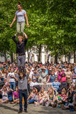 Street acrobatics Stock Images