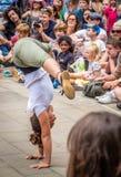 Street acrobatics Royalty Free Stock Photography