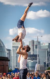 Street acrobatics Royalty Free Stock Photography