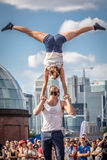 Street acrobatics Stock Images