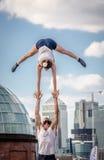 Street acrobatics Royalty Free Stock Photo