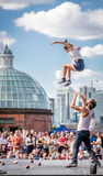 Street acrobatics Stock Image