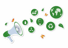 Street action green stickers Royalty Free Stock Photos