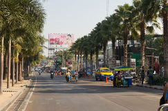 The street of with active traffic in Thailand Royalty Free Stock Photos