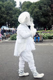 Street actor performs in Gorky recreation park in Moscow Royalty Free Stock Photos