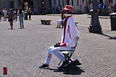 Street actor in the role of Invisible Man Stock Image
