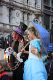Street actors on Covent Garden, London stock images