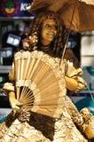 Street actress. Barcelona. Royalty Free Stock Photos