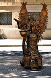 Street actress. Barcelona. stock images