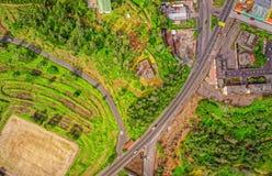 Street Aerial View Of Banos De Agua Santa, Ecuador royalty free stock photography