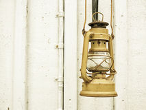 Street aged vintage kerosene oil lamp outdoor Stock Photography