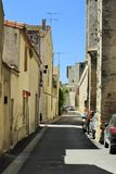 Street in Aigues-Mortes, France Stock Photography