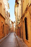 Street in Aix en Provnece. Narrow stret in the old part of Aix en Provence, South France Royalty Free Stock Images