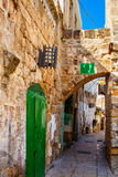Street in Akko Royalty Free Stock Photo