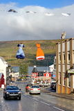 Street in Akureyri, north Iceland Stock Photography