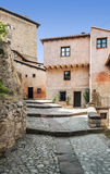 Street of Albarracin with bars Royalty Free Stock Photos
