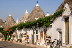 The street of Alberobello with trulli. Italy Royalty Free Stock Image