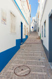 Street in Albufeira, Portugal. Stock Photo