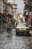 Street of Alepo city in Syria before war. Stock Photos