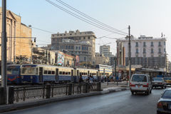 The street of Alexandria, Egypt Royalty Free Stock Photos