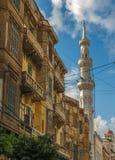 The street of Alexandria, Egypt Stock Photo