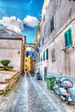 Street of Alghero Royalty Free Stock Photos