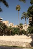 Street of Alicante. The beautiful square on Street of Alicante Royalty Free Stock Photos