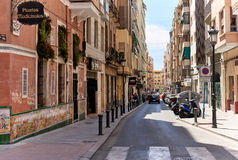 Street of Alicante city center. Spain Stock Photography