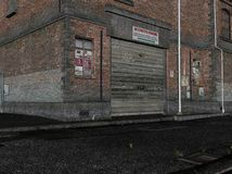 Street alley illustration. Three dimensional illustration of a dirty street alley Stock Photography