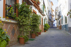 Street in Almunecar Royalty Free Stock Photography