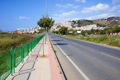 Street Along Costa del Sol in Spain Royalty Free Stock Photography