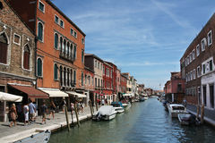 Street along the Grand Canal in Venice, Italy Royalty Free Stock Photos
